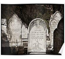 "Graveyard Adornments #25 - "" Jewish Headstones "" Poster"