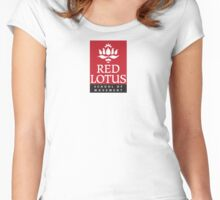Red Lotus School (Full logo, small) Women's Fitted Scoop T-Shirt