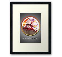 Hanging Titan Framed Print