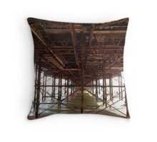 Under Brighton Pier Throw Pillow