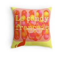 le candy francais Throw Pillow