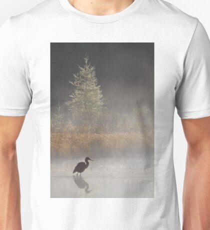 Morning Solitude - Blue Heron T-Shirt