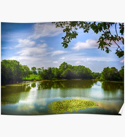 Old Wardour Castle Lake Poster