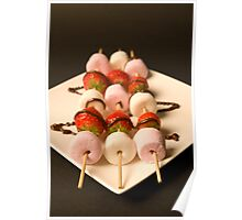 Strawberries and Marshmallows Poster