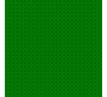 Geometric green pixel pattern Photographic Print