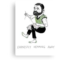 """Earnestly Hemming Away"" Canvas Print"