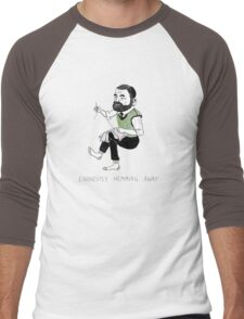 """Earnestly Hemming Away"" Men's Baseball ¾ T-Shirt"