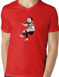 """Earnestly Hemming Away"" Mens V-Neck T-Shirt"