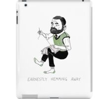 """Earnestly Hemming Away"" iPad Case/Skin"