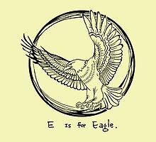E is for Eagle. (black&white) by tessfan99
