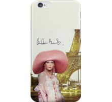 Eiffel Tower and Carla Bruni iPhone Case/Skin