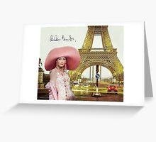 Eiffel Tower and Carla Bruni Greeting Card