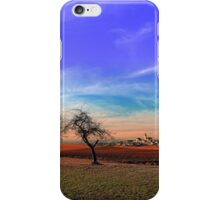 Trees, sunset, clouds, panorama and village | landscape photography iPhone Case/Skin