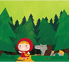 Little Red Riding Hood Photographic Print