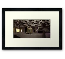 get out of the dark Framed Print