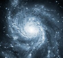 Pinwheel Galaxy [Blue] by SirDouglasFresh