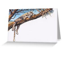 Cool Cheetah Greeting Card