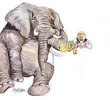 Sad Elephant by RoseRigden