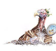 Wrinkled Vulture by RoseRigden