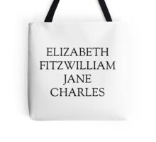 Main Characters from Pride and Prejudice  Tote Bag