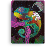 Midnight Chameleon Canvas Print