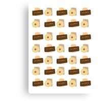 British Biscuit  Canvas Print