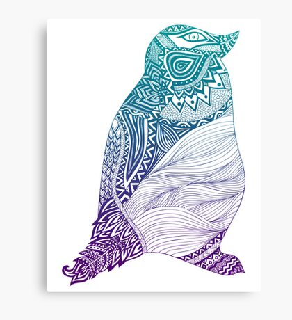 Duotone Penguin Canvas Print