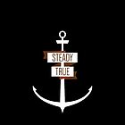 Steady & True Anchor Phone Case by sparksandburns