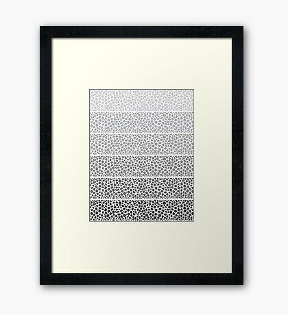 Riverside Monochrome Pebbles Framed Print
