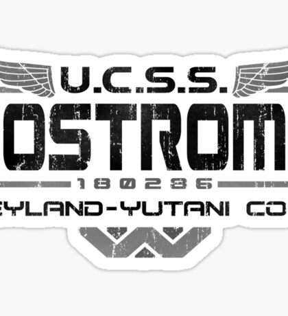 Nostromo Crew Alien T Shirt Sticker