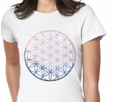 Sacred Geometry - Mountains Womens Fitted T-Shirt
