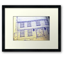 Blueprints Framed Print