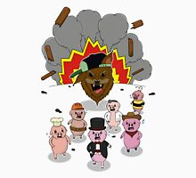 6 little pigs and the party god Unisex T-Shirt