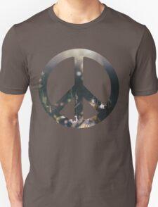 Peace Sign - Purple Flowers T-Shirt