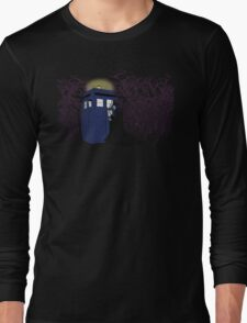 Maleficent and the Tardis Long Sleeve T-Shirt