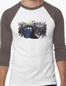 Maleficent and the Tardis Men's Baseball ¾ T-Shirt