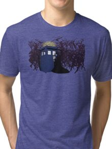 Maleficent and the Tardis Tri-blend T-Shirt