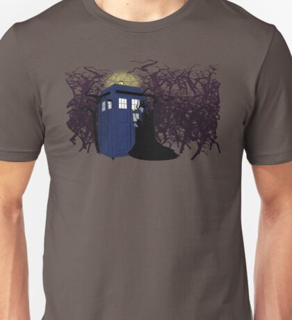 Maleficent and the Tardis Unisex T-Shirt
