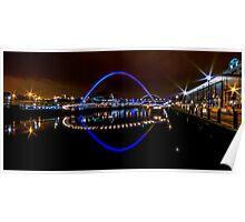 Gateshead Millenium Bridge Poster