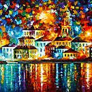 NIGHT HARBOR by Leonid  Afremov