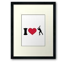 I love Baseball player Framed Print