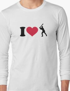 I love Baseball player Long Sleeve T-Shirt