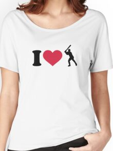 I love Baseball player Women's Relaxed Fit T-Shirt
