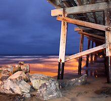 Newport Pier  by Rosalee Lustig