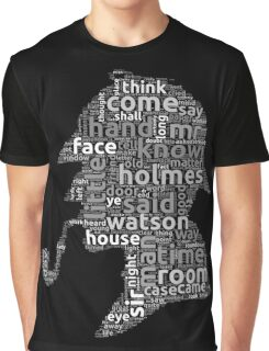 The canon of Sherlock Holmes word cloud Graphic T-Shirt