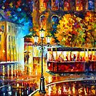 NIGHT TROLLEY by Leonid  Afremov