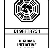 Dharma Card - LOST by robotplunger