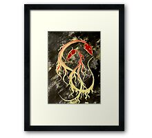 2 dragons Framed Print