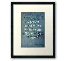 Einstein Quote 2 Framed Print