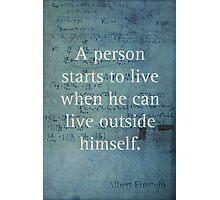 Einstein Quote 2 Photographic Print